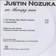 Click here for more info about 'Justin Nozuka - Mr Therapy Man'