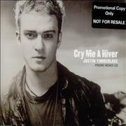 Click here for more info about 'Justin Timberlake - Cry Me A River - Promo Remix CD'