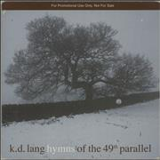 K.D. Lang Hymns Of The 49th Parallel UK CD album Promo