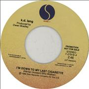 Click here for more info about 'K.D. Lang - I'm Down To My Last Cigarette'