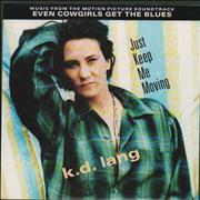"K.D. Lang Just Keep Me Moving UK 7"" vinyl"
