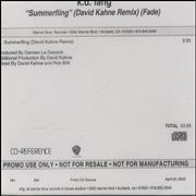 Click here for more info about 'K.D. Lang - Summerfling - David Kahne Remix Fade'