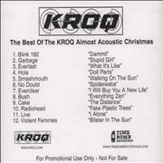 Click here for more info about 'KROQ - Best Of Kroq Almost Acoustic Christmas Timebomb'