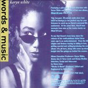 Click here for more info about 'Karyn White - Ritual Of Love - Words & Music'