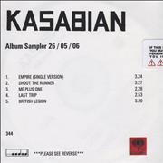 Click here for more info about 'Kasabian - Album Sampler 26/05/06'