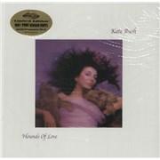 Kate Bush Hounds Of Love - 180gm Pink / Grey Vinyl - stickered shrink USA vinyl LP