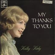 Click here for more info about 'Kathy Kirby - My Thanks To You - Mono/Factory Sample'