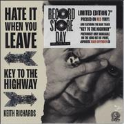 """Keith Richards Hate It When You Leave - RSD 2020 - Red Vinyl - Sealed UK 7"""" vinyl"""
