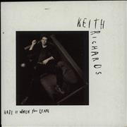 Keith Richards Hate It When You Leave - Wallet Australia CD single
