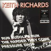 "Keith Richards Run Rudolph Run - RSD BF18 - Red Vinyl UK 12"" vinyl"