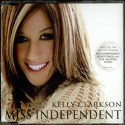Kelly Clarkson Miss Independent UK CD single