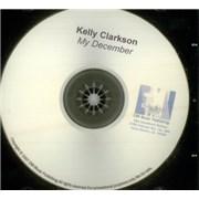 Kelly Clarkson My December USA CD-R acetate Promo