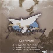 Click here for more info about 'Kelly Rowland - You Will Win'