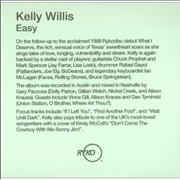 Click here for more info about 'Kelly Willis - Easy'
