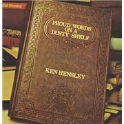 Ken Hensley Proud Words On A Dusty Shelf - 1st UK vinyl LP