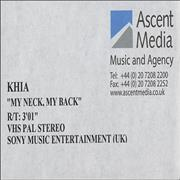 Click here for more info about 'Khia - My Neck, My Back'