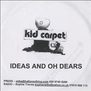 Click here for more info about 'Kid Carpet - Ideas And Oh Dears'