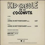 Click here for more info about 'Kid Creole & The Coconuts - Annie, I'm Not Your Daddy - 2-Track'