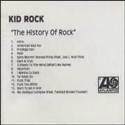 Click here for more info about 'Kid Rock - The History Of Rock + press sheet'
