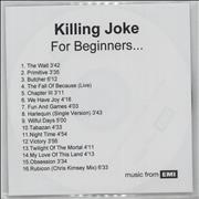 Click here for more info about 'Killing Joke - For Beginners....'