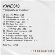 Click here for more info about 'Kinesis - Handshakes For Bullets'