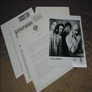 King Crimson Beat USA press pack Promo