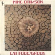 "King Crimson Cat Food + Sleeve - VG UK 7"" vinyl"