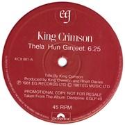 """King Crimson Discipline Sampler UK 12"""" vinyl Promo"""