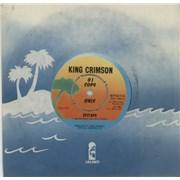 "King Crimson Epitaph UK 7"" vinyl Promo"