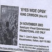 King Crimson Eyes Wide Open UK DVD Promo