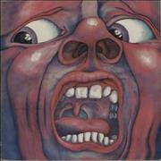 King Crimson In The Court Of - 1st - Label Variant UK vinyl LP