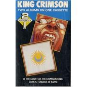 King Crimson In The Court Of The Crimson King / Lark's Tongues In Aspic UK cassette album