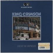 King Crimson Live At The Orpheum Japan vinyl LP