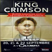 King Crimson Tournee Europeenne A L'Olympia 2015 France poster Promo