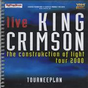 King Crimson The Construction Of Light - Tour Itinerary Germany book Promo