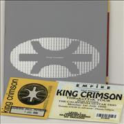 King Crimson Thrak 1995 Tour + Ticket Stub & Pass UK tour programme