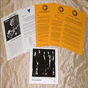 King Crimson Thrak USA press pack Promo