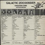 Click here for more info about 'Kingdom Come (Arthur Brown) - Galactic Zoo Dossier + Poster'