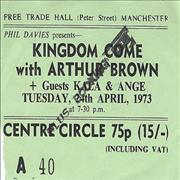 Click here for more info about 'Kingdom Come (Arthur Brown) - Free Trade Hall, Manchester'