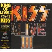 Kiss Alive III Japan CD album Promo