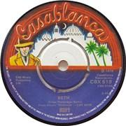 """Kiss Beth UK 7"""" vinyl"""