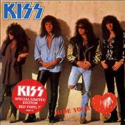 "Kiss Hide Your Heart - Red Vinyl UK 7"" vinyl"