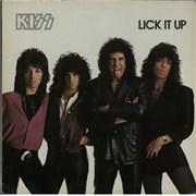 Kiss Lick It Up - Sample Netherlands vinyl LP