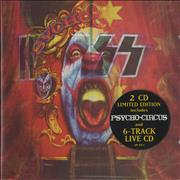Kiss Psycho Circus UK 2-CD album set