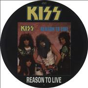 "Kiss Reason To Live UK 12"" picture disc"
