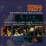 "Kiss Tears Are Falling Netherlands 12"" vinyl"