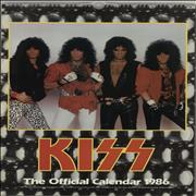 Kiss The Official Calendar 1986 UK calendar