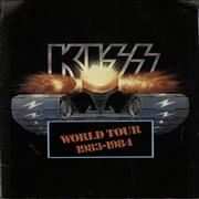 Kiss World Tour 1983-1984 UK tour programme