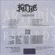 Click here for more info about 'Kittie - Until The End'