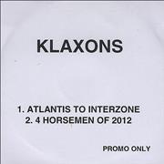 Click here for more info about 'Klaxons - Atlantis To Interzone'